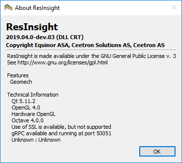 Python Configuration :: ResInsight